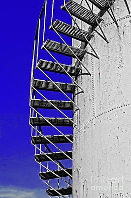 Photograph - Gasoline Storage Tank With Staircase  by Jim Corwin