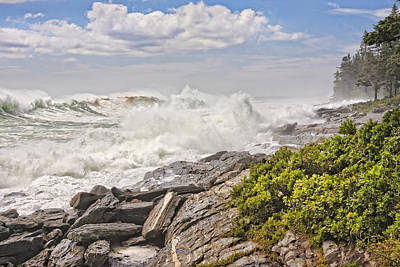 Photograph - Pemaquid Point Maine Waves by Keith Webber Jr