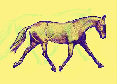 Lengthen Trot Deco Art Art Print by JAMART Photography