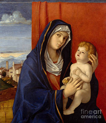 Jesus Art Painting - Madonna And Child by Giovanni Bellini