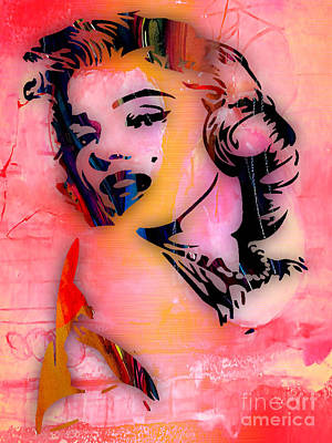Gold Mixed Media - Marilyn Monroe Collection by Marvin Blaine