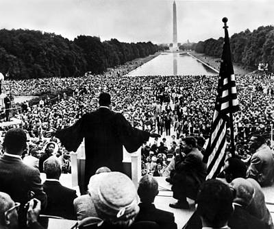 Lincoln Memorial Photograph - Martin Luther King Jr by American School