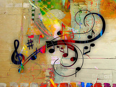 Colorful Art Mixed Media - Music Flows Collection by Marvin Blaine