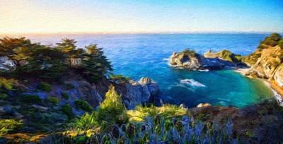 Blue Painting - Nature Landscape Graphics by Margaret J Rocha