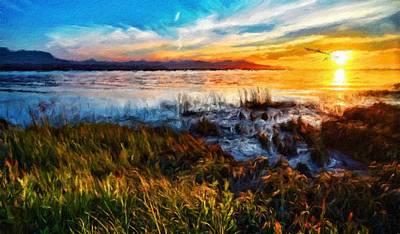Park Painting - Nature Landscape Nature by Margaret J Rocha