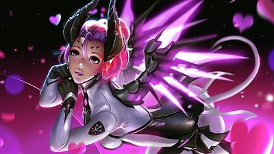 Graphic Digital Art - Overwatch by Super Lovely
