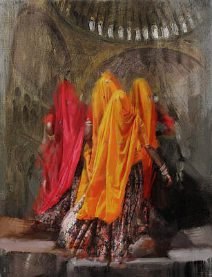Of Hijabs Painting - 19 Pakistan Folk B by Maryam Mughal