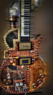 The Les Paul Guitar Photograph - Rock N Roll Collection by Deborah Klubertanz