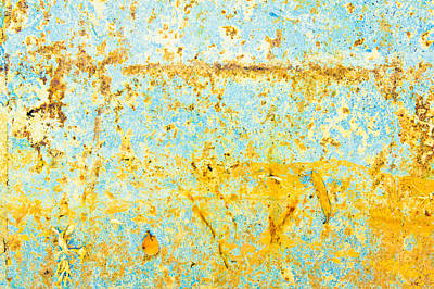 Unseen Photograph - Rusty Metal by Tom Gowanlock