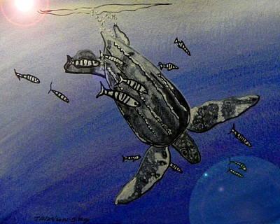 Ocean Turtle Painting - Sea Turtle by W Gilroy