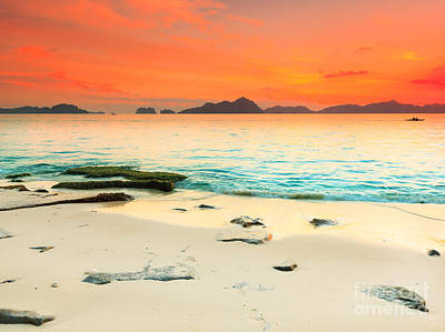 Peaceful Scene Photograph - Seascape by MotHaiBaPhoto Prints
