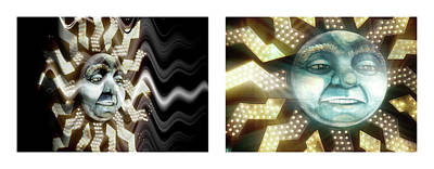 Photograph - 19 Shineonucrazydiamond Diptych 19 by David Hargreaves