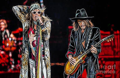 Steven Tyler Mixed Media - Steven Tyler Collection by Marvin Blaine
