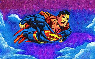 Superman Costume Art Print by Egor Vysockiy