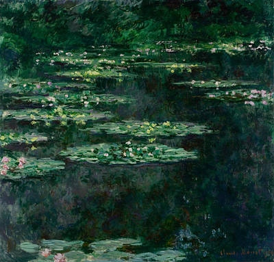 French Impressionism Painting - Waterlilies by Claude Monet