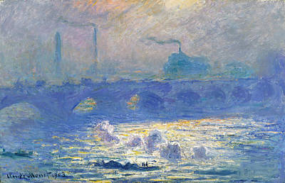 Crossing Painting - Waterloo Bridge by Claude Monet