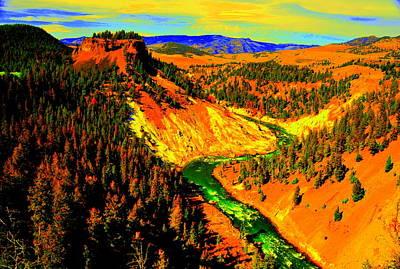 Yellowstone Park Art Print by Aron Chervin