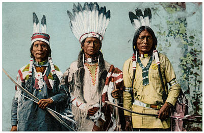 Painting - 1900 Apache Indian Warriors by Historic Image