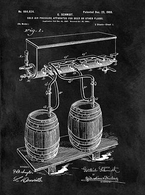 Beer Drawings - 1900 Beer Cooler by Dan Sproul