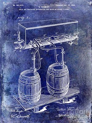 1900 Beer Keg System Patent Art Print by Jon Neidert