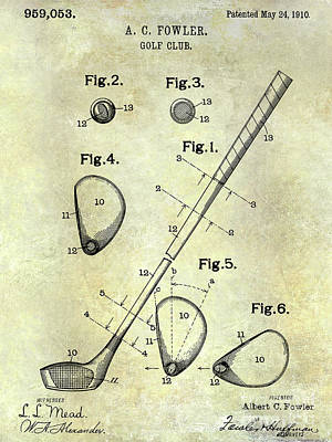 1910 Golf Club Patent Art Print