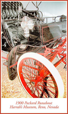 Photograph - 1900 Packard Runabout Automobile by A Gurmankin