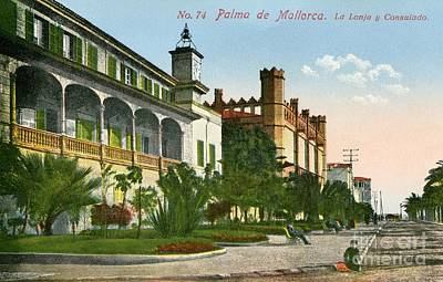 1900 Palma De Mallorca La Lonja And Consulate Art Print