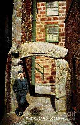 Black And White Horse Photography - 1900 St Ives Cornwall The Old Arch local boy by Aapshop