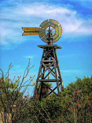 Photograph - 1900 Windmill Langtry Tx by Michael Ziegler