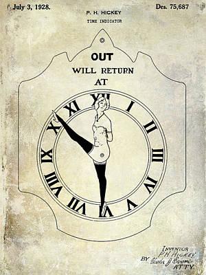 1928 Time Indicator Patent  Print by Jon Neidert