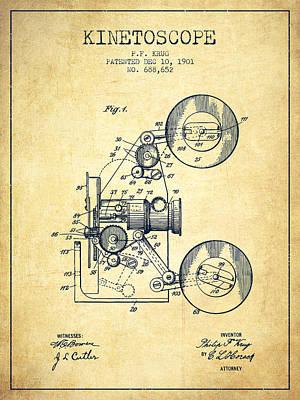 1901 Kinetoscope Patent - Vintage Art Print by Aged Pixel