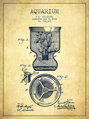 Reptiles Royalty-Free and Rights-Managed Images - 1902 Aquarium Patent - Vintage by Aged Pixel