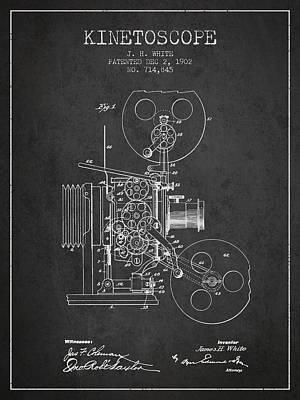 1902 Kinetoscope Patent - Charcoal Art Print