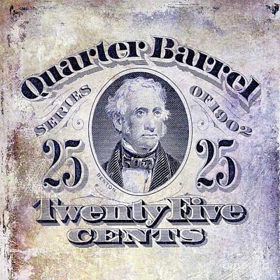 1902 Quarter Beer Barrel Tax Stamp Art Print by Jon Neidert