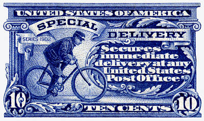 Painting - 1902 Special Delivery Stamp by Historic Image