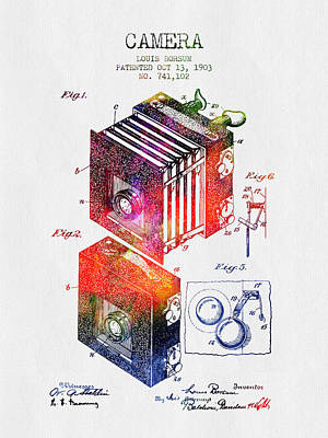 1903 Camera Patent - Color Art Print