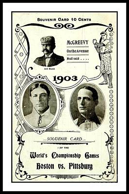 World Series Art Drawing - 1903 World Series Poster by Peter Gumaer Ogden Collection