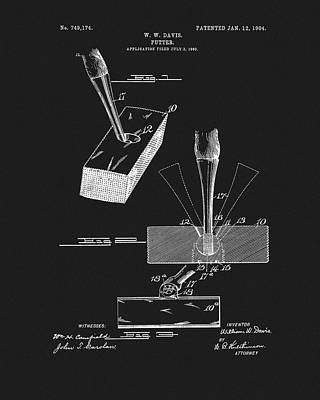 Mixed Media - 1904 Golf Putter Patent by Dan Sproul