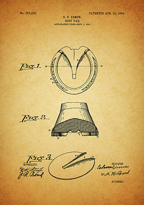 Mixed Media - 1904 Horse Shoe Patent by Dan Sproul