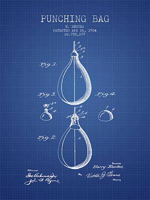 Striking Bag Digital Art - 1904 Punching Bag Patent Spbx12_bp by Aged Pixel