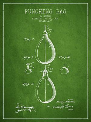 Striking Bag Digital Art - 1904 Punching Bag Patent Spbx12_pg by Aged Pixel