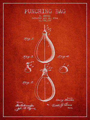 Punch Digital Art - 1904 Punching Bag Patent Spbx12_vr by Aged Pixel