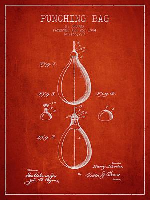 Striking Bag Digital Art - 1904 Punching Bag Patent Spbx12_vr by Aged Pixel