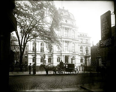 Photograph - 1905 Boston City Hall by Historic Image