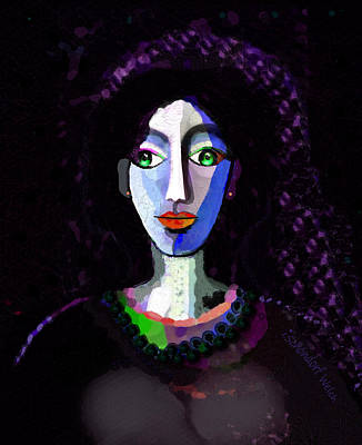 Digital Art - 1906 Face Of A Lady by Irmgard Schoendorf Welch