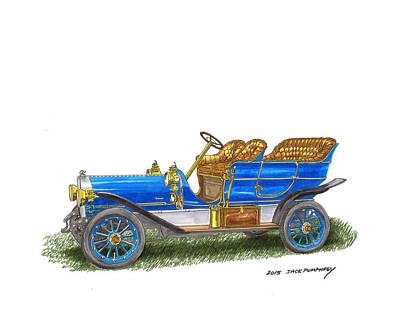 Painting - 1906 Lambert Touring Model H by Jack Pumphrey