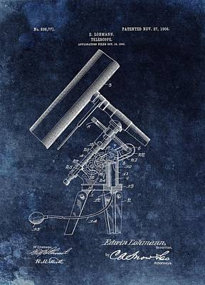 Exploration Mixed Media - 1906 Telescope Patent by Dan Sproul