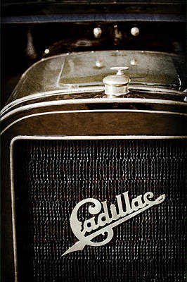 Art Print featuring the photograph 1907 Cadillac Model M Touring Grille Emblem -1106ac by Jill Reger