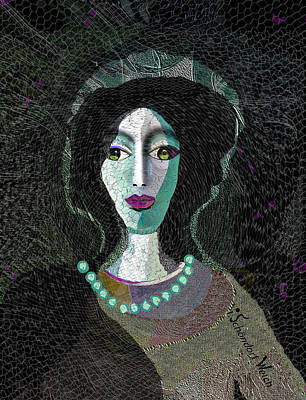 1907 Digital Art - 1907 Lady by Irmgard Schoendorf Welch