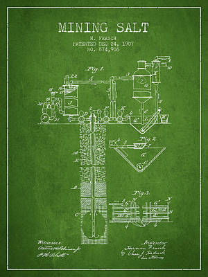 Machinery Digital Art - 1907 Mining Salt Patent En36_pg by Aged Pixel